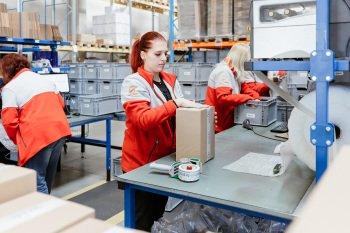 Proces balení balíků v Geisu
