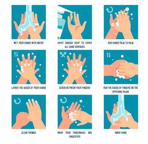 Správné mytí rukou - Království TianDe