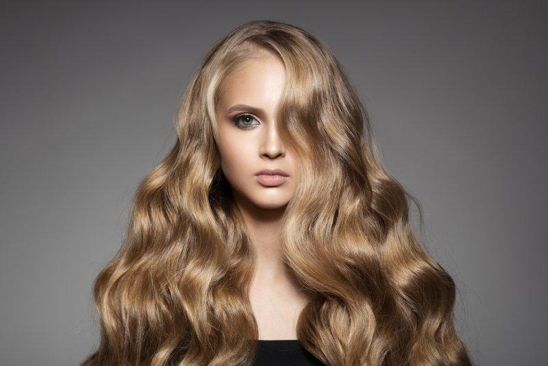 žena, krásný účes, vlasy, blond