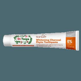 Bělící zubní fyto-pasta na bázi dřevěného uhlí