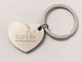TianDe Kovový přívěsek ve tvaru srdce