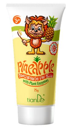 Dětská zubní pasta Ananas s rostlinnými enzymy