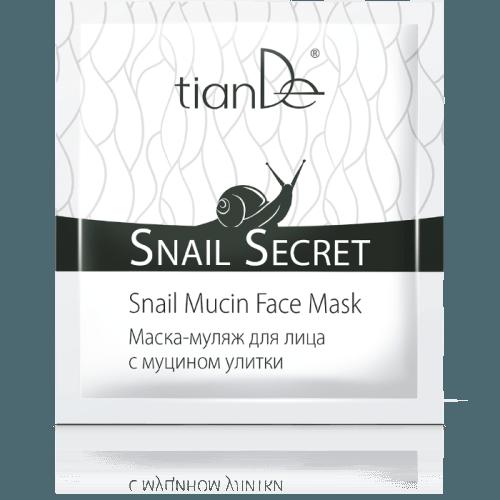 Maska na obličej s mucinem hlemýžďů