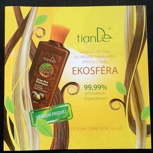Brožura Šampón na vlasy na základě mýdlového ořechu