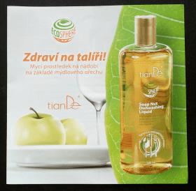 Brožura Mycí prostředek na základě mýdlového ořechu