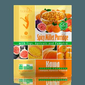 Jahelná kaše s fíky, meruňkami a dýní