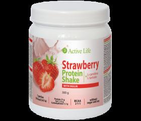 Jahodový proteinový koktejl s inulinem