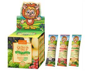 Sirupy s ovocnými šťávami a vitamíny