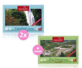 AKCE 2x Kosmetická tělová fytonáplast Yaoshen Forte + Dárek Kosmetická tělová fytonáplast Zhui Feng Forte