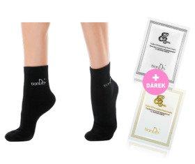 AKCE Ponožky s bodovou aplikací turmalínu - vel. 22 + Dárky Krém na nohy preventivní Hadí tuk a regenerační Hadí tuk