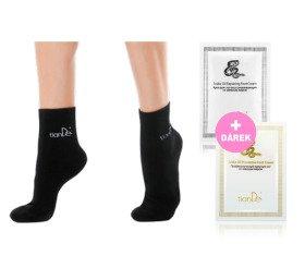 AKCE Ponožky s bodovou aplikací turmalínu - vel. 26 + Dárky Krém na nohy preventivní Hadí tuk a regenerační Hadí tuk