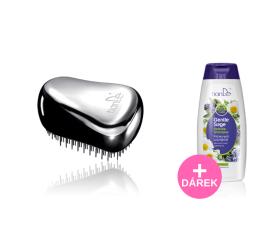 AKCE Stylingový hřeben - stříbrný + Jemný šampon Něžná šalvěj