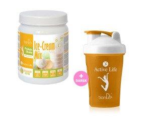 AKCE Zmrzlinový proteinový koktejl-mix se sladidlem + Dárek Shaker