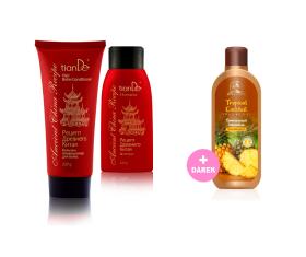 Luxus pro vlasy a vůně ananasu pro tělo