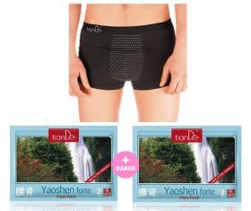 Pánské spodní prádlo s bodovou turmalínovou vrstvou. -velikost XXL + 2X Dárek Kosmetická tělová fytonáplast Yaoshen Forte