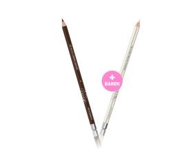 Tužka na rty a oči - č. 02 Dark Brown + Dárek Tužka na rty a oči - č. 38 Snow
